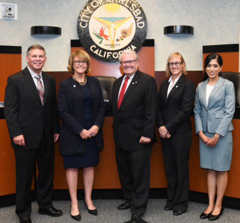 New Carlsbad council members sworn in