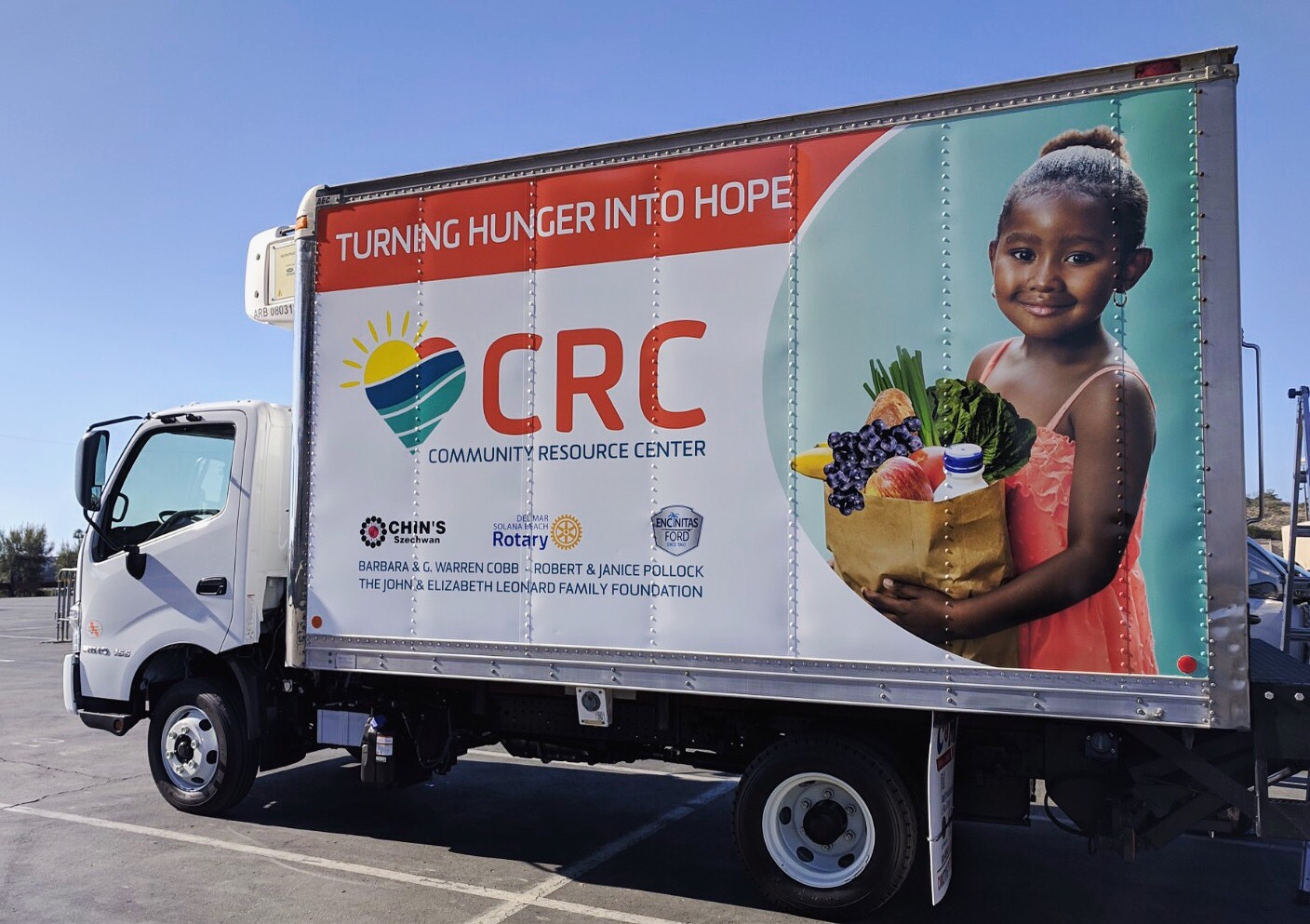 Community Resource Center takes delivery of new delivery truck
