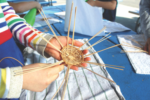 Learning tradition and patience through basket weaving