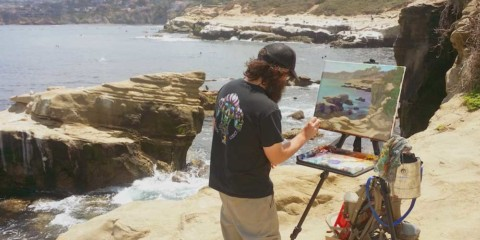 Waterspot: Artist Matt Beard paints the coastline in latest book