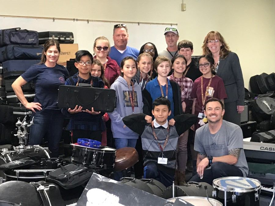 VUSD receives musical instruments from North Coast Church