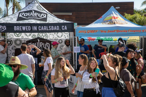 Several North County craft breweries were invited to Collabapalooza on Oct. 19 in North Park, a festival focused on beers brewed as collaborations between breweries. Photo by Bill Vanderburgh