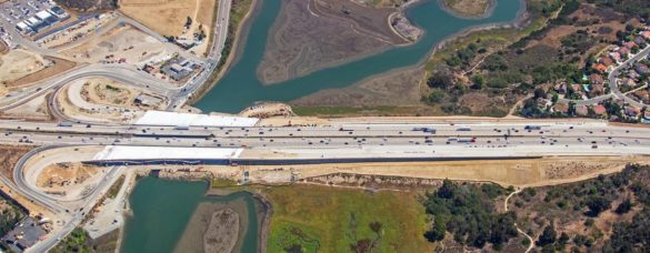 The North Coast Corridor construction, when completed, will connect 27 miles of highway through Oceanside, Carlsbad, Encinitas, Solana Beach, Del Mar and San Diego. Courtesy photo