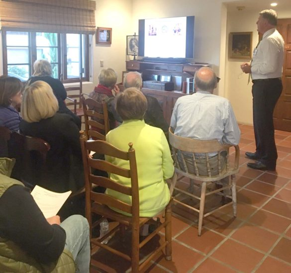 The Rancho Santa Fe Historical Society held its annual meeting Feb. 18 at the La Flecha House. Courtesy photo