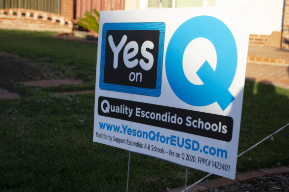 The Escondido Union School District is asking voters to approve Measure Q, a $205 million bond measure that the district says would help fund much-needed repairs and renovations on its school's campuses. Photo by Will Fritz