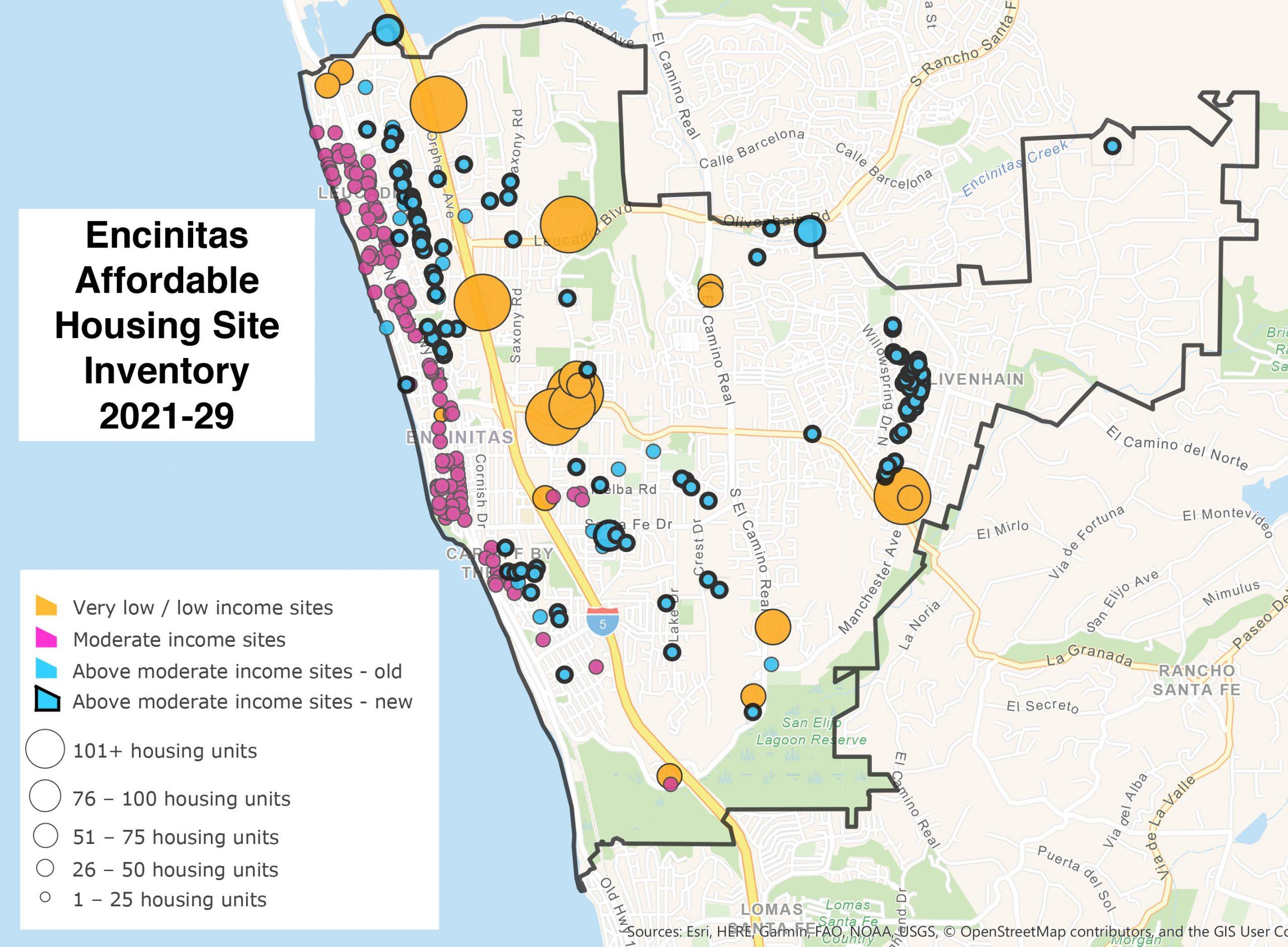 Encinitas Map Affordable Housing