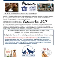 Rancho Coastal Humane Society Donation Day
